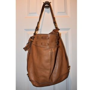 Fossil Brown Leather Shoulder Purse!